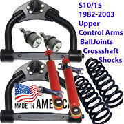 Upper Lifted Control Arms S10 2wd 82-03 Balljoints 3 Coilsprings Shocks 1015sl