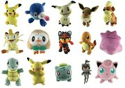 Official Pokemon Plush - Soft Toys - Pikachu Charmander Squirtle Eevee