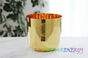 Crystal Singing Bowl 7 G/a/b/c Note Musical Instruments Gold Flower Of Life