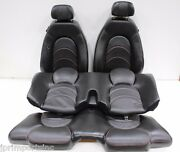 Jdm 00 Jaguar Xkr Silverstone Front And Rear Seats Black And Red Stitches Leather