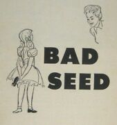 Bad Seed Playbill 1955 Coronet Theatre Nancy Kelly Playwrights Company Poole
