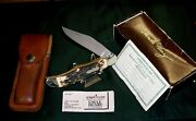Schrade 127uh Knife And Sheath Uncle Henry Serial 33115 Circa-1970's W/packaging