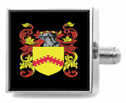 Tiller England Family Crest Surname Coat Of Arms Cufflinks Personalised Case