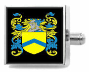 Milson England Family Crest Surname Coat Of Arms Cufflinks Personalised Case
