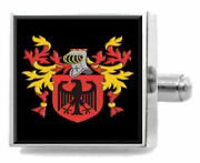 Hayward England Family Crest Surname Coat Of Arms Cufflinks Personalised Case