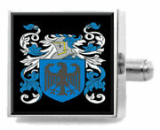 Prittie Ireland Family Crest Surname Coat Of Arms Cufflinks Personalised Case