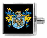 Cantillon Ireland Family Crest Surname Coat Of Arms Cufflinks Personalised Case