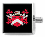 Kennedy Ireland Family Crest Coat Of Arms Sterling Silver Cufflinks Engraved Box