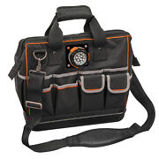 New Klein Tools - 55431 - Tradesman Pro Lighted Tool Bag W/ Removable Led Light