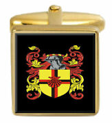 Ford England Family Crest Surname Coat Of Arms Gold Cufflinks Engraved Box