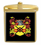Summerhill England Family Crest Surname Coat Of Arms Gold Cufflinks Engraved Box