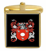 Bicknell England Family Crest Coat Of Arms Heraldry Cufflinks Box Set Engraved
