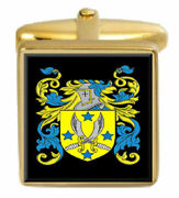 Young Scotland Family Crest Coat Of Arms Heraldry Cufflinks Box Set Engraved