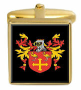 Hutcheson Scotland Family Crest Coat Of Arms Heraldry Cufflinks Box Set Engraved