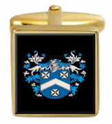 Barclay Scotland Family Crest Coat Of Arms Heraldry Cufflinks Box Set Engraved