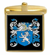 Mcafee Scotland Family Crest Coat Of Arms Heraldry Cufflinks Box Set Engraved