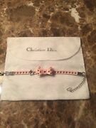 Authentic Christian Dior Pink Patent Leather Bracelet