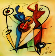 Rhythm And Blues By Alfred Gockel Fine Art Painting On Canvas Music