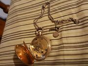 Elgin Pocket Watch 1891 18s 11 Jewels Hunters Case Gilded Gold