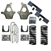 Drop Spindles Lowering Flip Suspension 4/6 Kit 1999-2007 Chevy Gmc 1500 2wd