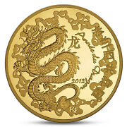 France 50 Euro Gold Lunar Year Of Dragon Chinese Calendar 2012 Proof