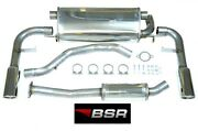 Bsr Exhaust System Volvo V50 S40 T5 And03904-and03912 Cat Back Stainless And Chrome Steel