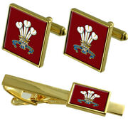 Army The Of Waleand039s Division Tie Clip Cufflinks Gift Box Set
