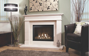 Gosford Limestone Fireplace Suite With High Efficiency Gas Fire