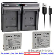 Kastar Battery Dual Charger For Canon Nb-4l Nb-4lh And Digital Ixus 110 Is Camera