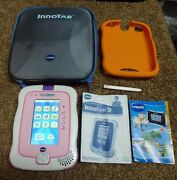 Vtech White Innotab 3 Learning System Blue Model Tablet With Case And Game