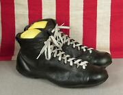 Vintage 1930s Football Soccer Boots Leather Rugby Shoes Cleats 9 Antique Nice
