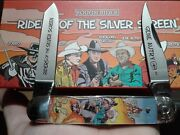 Rough Rider Rr1837 Riders Of The Silver Screen Gene Autry Pocket Knife Nib