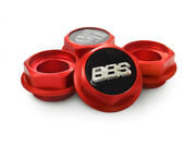 Bbs Rs Rc Hex Nuts Red Center Caps 15 16 17 18 19 Inch Small Thread 2.28in Vw