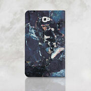 Marbled Samsung Galaxy Tab A 7 9.7 10.1 Wallet Case Cracked Stone Tab S2 8 Cover
