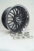 Bmw Bbs Rs Ii Style 101 Adaptor + Hex Nuts Center Caps 18 19 20 Inch 846 848 858