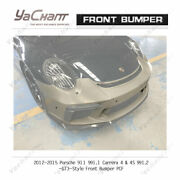 Carbonandfrp Bar For 12-15 911 991.1 Carrera Ands And4 And4s 991.2-gt3-type Front Bumper