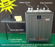 Mobile Concession Sink 4 Compartment W/ Removable Shelf, Soap Dispenser And Wheels