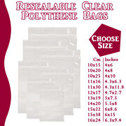 Large Grip Seal Zip Lock Polythene Self Resealable Clear Plastic Bags 1 -100000