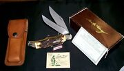 Schrade 227uh Knife And Sheath 1980's Uncle Henry W/original Packaging,papers Rare