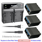 Kastar Battery Rapid Charger For Sony Np-f990pro Sony Gv-d800 Gv-d900 Gv-hd700e