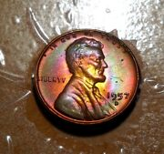 Sub1/19 Great Mint Set Toned 1957-d Lincoln Wheat Cent 2-sided Beauty Lc108