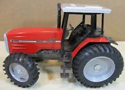 8160 Massey Ferguson Dynashift Red Farm Tractor With Cap And Stair Steps 116 New