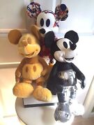 Lot Of 3 Nwt January+february+march Disney Store Mickey Mouse Memories Plush