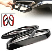 Car Accessory Rear Cylinder Exhaust Pipe Cover Trim For Mercedes Benz C E Class