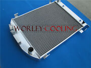 64mm 3core Aluminum Radiator For 1932 Ford Hiboy Hi-boy Grill Shell Chevy Engine