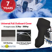 Universal Full Outboard Motor Engine Cover Fits Up To 3.5-350hp Black