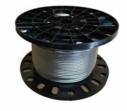 1/4 Stainless Steel Aircraft Cable Wire Rope 7x19 Type 316 3000 Feet