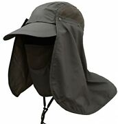Outdoor Fishing Hat 360 Anddeg Uv Sunscreen Sun Hat Removable Neck And Mask