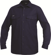 Kinggee Menand039s Work Cool Shirt Cotton Long Sleeve Navy- Size S M L 2xl Or 3xl