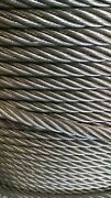 3/4 Bright Wire Rope Steel Cable Iwrc 6x26 600 Feet